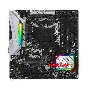 Image 2 - ASROCK  B450M STEEL LEGEND Micro ATX AMD B450 DDR4 3466+(OC)MHz M.2 USB3.1 New Max 64G  Double Channel Socket AM4 Motherboard