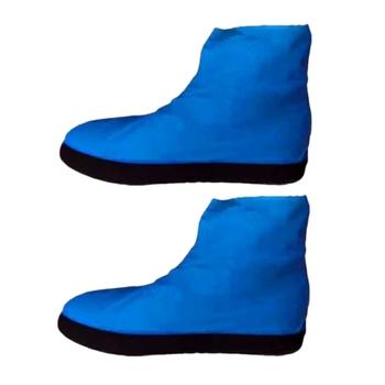 AUAU-dwuwarstwowa lateksowe pokrowiec na buty grube przeciwdeszczowa osłona na buty pokrowiec na buty wodoodporny pokrowiec na buty pokrowiec na buty jednorazowa osłona na buty pokrowiec na buty tanie i dobre opinie SIKETU Poliester Stałe Shoe cover other
