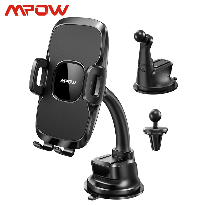 Mpow CA045 3 In 1 Phone Holder For Car Dashboard/Windshield/Air Vent Car Phone Mount Holder For IPhone 11 Xiaomi Huawei Samsung