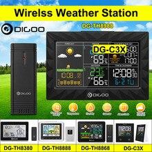 Digoo DG-TH8988 lcd cor estação meteorológica + sensor remoto ao ar livre termômetro umidade snooze relógio nascer do sol calendário