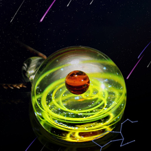Romantic Universe Glass Bead Planets Pendant Necklace Galaxy Rope Chain Solar System Design Necklace for Women Gift dropship 2019 new dream nice nebula necklace various galaxy space pattern glass alloy necklace pendant solar system popular jewelry