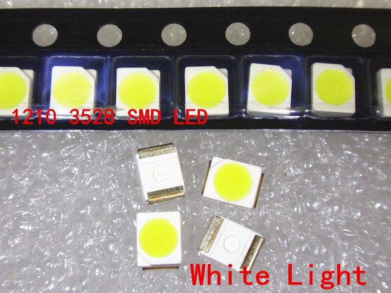 1000 шт. 3528 белый красный зеленый синий желтый теплый белый холодный белый супер яркий диодный светильник 1210 SMD СВЕТОДИОДНЫЙ
