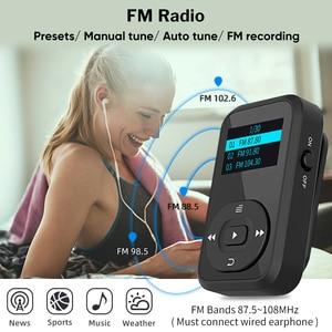 Image 4 - Deelife Correndo MP3 Jogar Com fone de ouvido Bluetooth Esporte Clipe Braçadeira 8GB MP 3 Jogadores de Música de Alta Fidelidade de Rádio Mini para Esportes