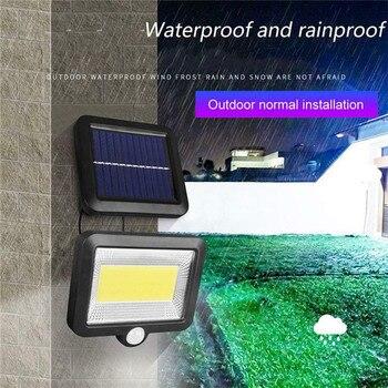 Luz Solar de pared de exterior para jardín, seguridad nocturna, luz Solar dividida 30W 100led COB, luz alimentada por energía Solar, reflector de calle, lámpara Solar