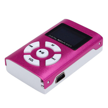 1pc Portable Simple MP3 Player Speaker With LCD Screen Metal Mini Sport Music Media Player With Radio Support TF Card 10