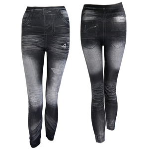 Image 2 - 2020 Women New Fashion Classic Stretchy Slim Leggings Sexy imitation Jean Skinny Jeggings Skinny Pants big size bottoms hot sale