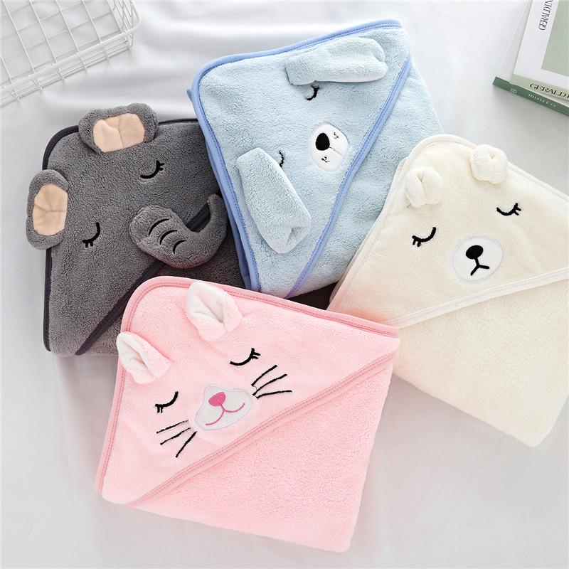 Toddler Baby Hooded Towels Newborn Kids Bathrobe Super Soft Bath Towel Blanket Warm Sleeping Swaddle Wrap for Infant Boys Girls