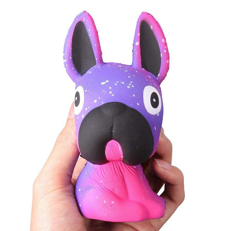 Temperature Color Change Slow Rising Scented Squeeze Toy Reliever Stress Gift (Purple)
