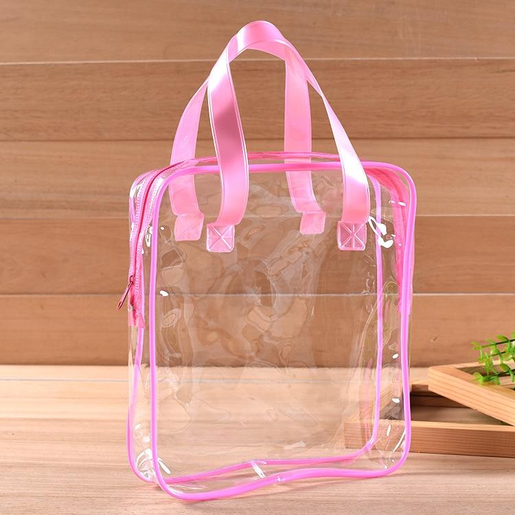 Waterproof Transparent PVC Bath Cosmetic Bag Women Make Up Case Travel Zipper Makeup Beauty Wash Organizer Toiletry Storage Kit