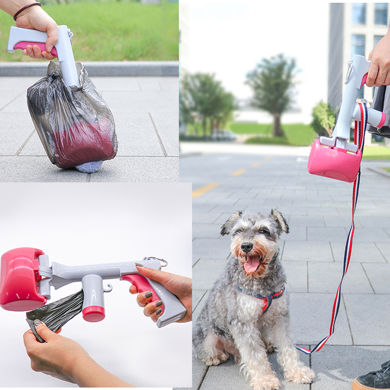Dog Pet Travel Outdoor Pooper Scooper With Degradable Waste Bags Poop Scoop Clean Pick Up Pet Excreta Shit Cleaner Pet Products
