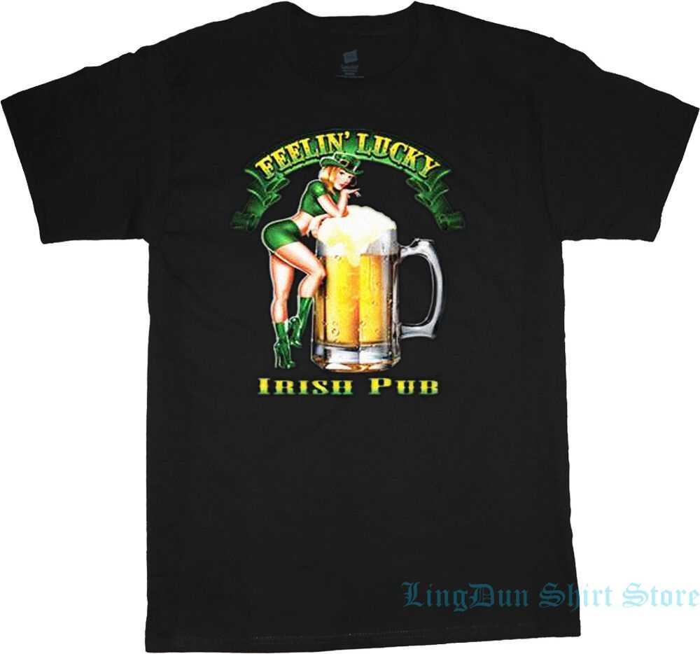 تي شيرت الفتاة الأيرلندية الجعة تي شيرت للرجال والنساء تي شيرت 100% تي شيرت قطني مضحك بأكمام قصيرة