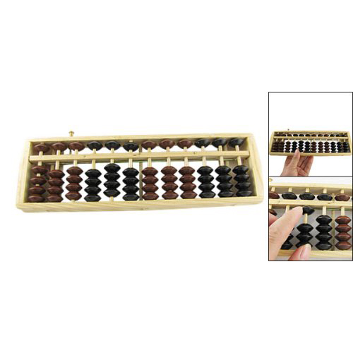 Brown Black Bead School Calculation Japanese Soroban Wood Abacus