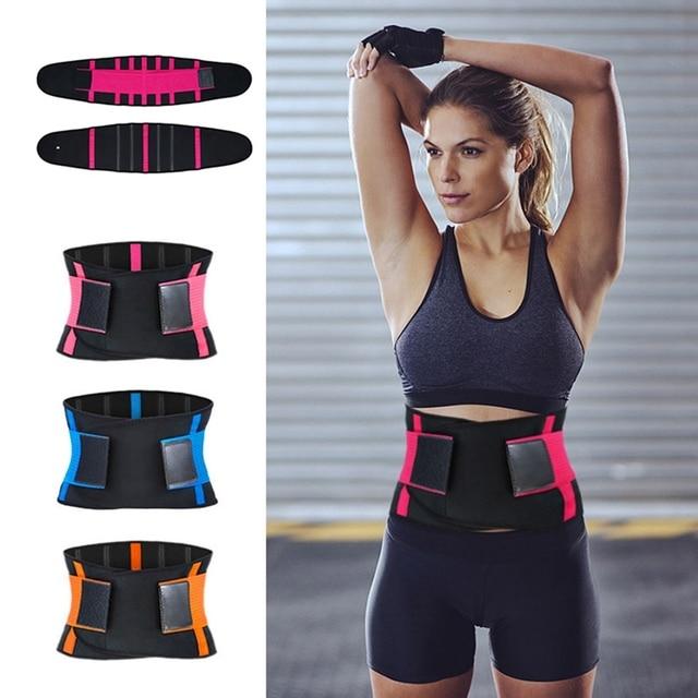 Adjustable Waist Back Support Waist Trainer trimmer Belt Sweat Utility Belt For Sport Gym Fitness Weightlifting Tummy Slim Belts