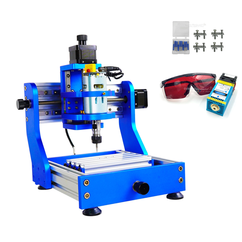 15w Laser Square Rail Cnc Router 1310 PRO Full Metal Frame Pcb Milling Wood Laser Engraving Machine With Candle Control Option