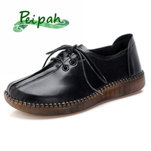 PEIPAH Handmade Shoes woman Genuine Leather Women F