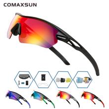 Comaxsun profesjonalne spolaryzowane okulary rowerowe MTB Road okulary motocyklowe sportowe rowerowe okulary przeciwsłoneczne UV 400 z 5 soczewkami TR90 tanie tanio Polarized 4 7CM STS821 MULTI 15CM Poliwęglan Unisex TR-90 Jazda na rowerze