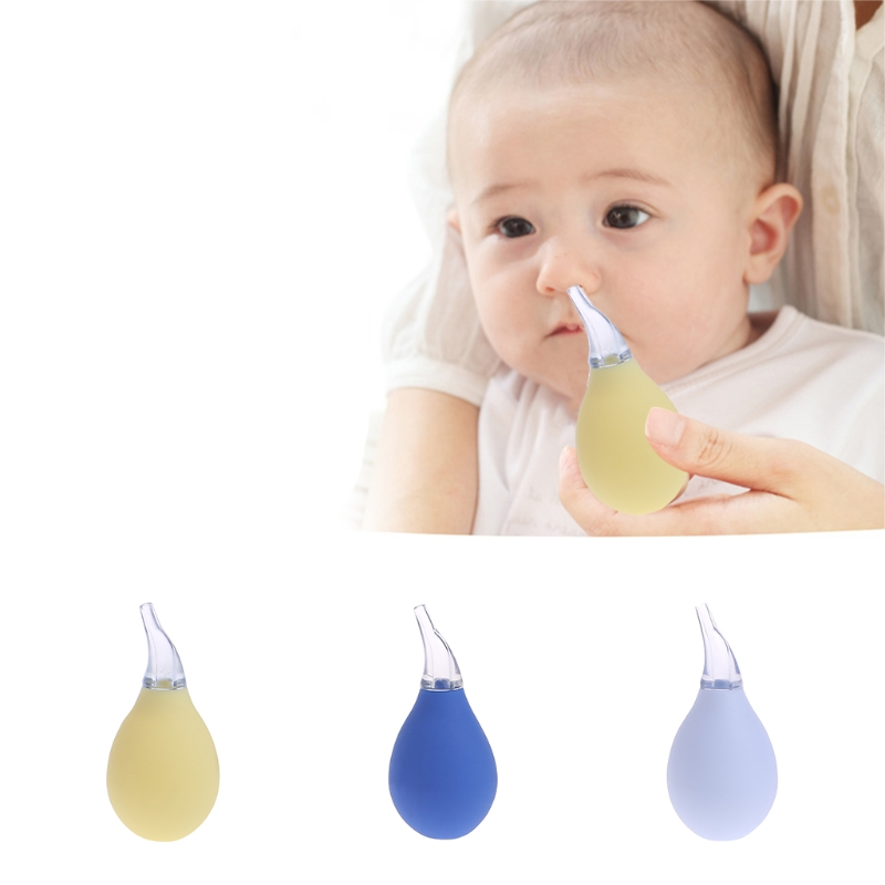 Baby Newborn Nasal Aspirator Suction Soft Tip Mucus Vacuum Runny Nose Cleaner