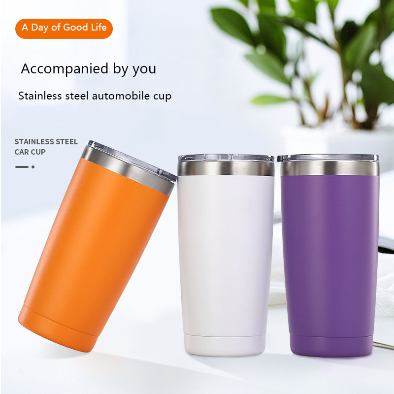 Hot 20 oz Stainless Steel Vacuum Tumbler Insulated Travel Coffee Mug Cup Flask