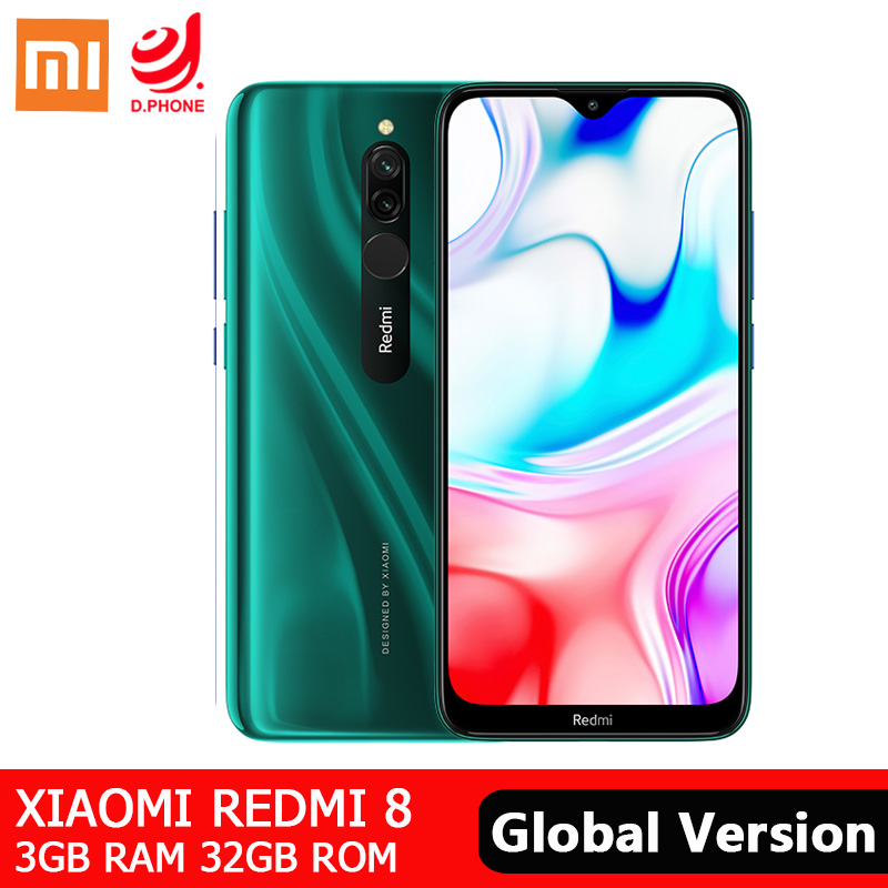 Global ROM Xiaomi Redmi <font><b>8</b></font> 3GB 32GB Smartphone Snapdragon 439 Octa Core 12MP Dual Camera 5000mAh Battery <font><b>6.22</b></font>