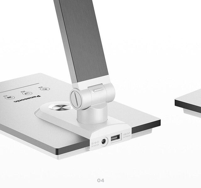 Panasonic moderne métal brossé aluminium économie pliant tactile LED lampe de bureau bureau étude lecture Table de travail veilleuse