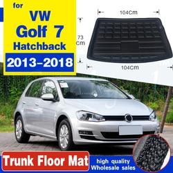 Для Volkswagen VW Golf 7 / GTI R Mk7 хэтчбек люк 2013 2014 2015 2016 2017 2018 подкладка багажника коврик для груза лоток напольный ковер