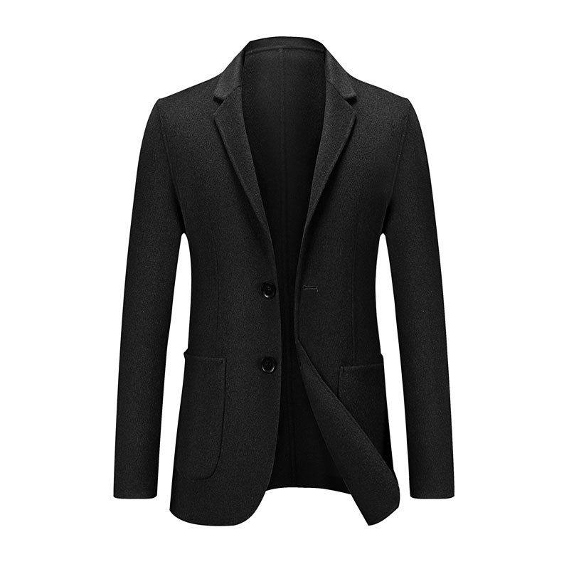Wool Suit Men's Autumn And Winter New Style Men Korean-style Casual Double-Sided Duffle Coat Short Woolen Jacket Slim Models Fas