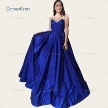 Блестящие ярко синие платья для выпускного вечера 2021 вечерние