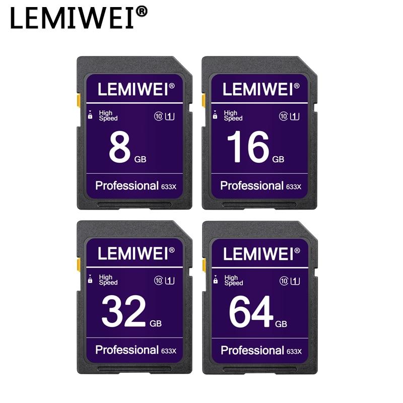 Memory Card 64GB 32GB High Speed Professional Camera Flash Card 16GB 8GB UHS-I Class 10 Lemiwei Camera Storage Card