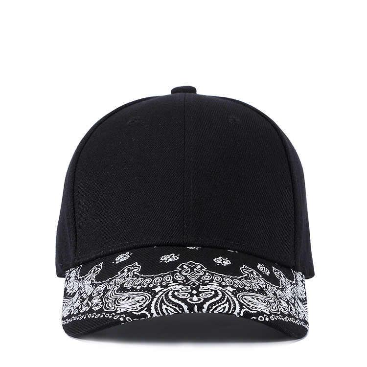 عالية الجودة أزياء جديد الكاجو زهرة طباعة قبعة بيسبول الرجال النساء الأسود Casquette أوم