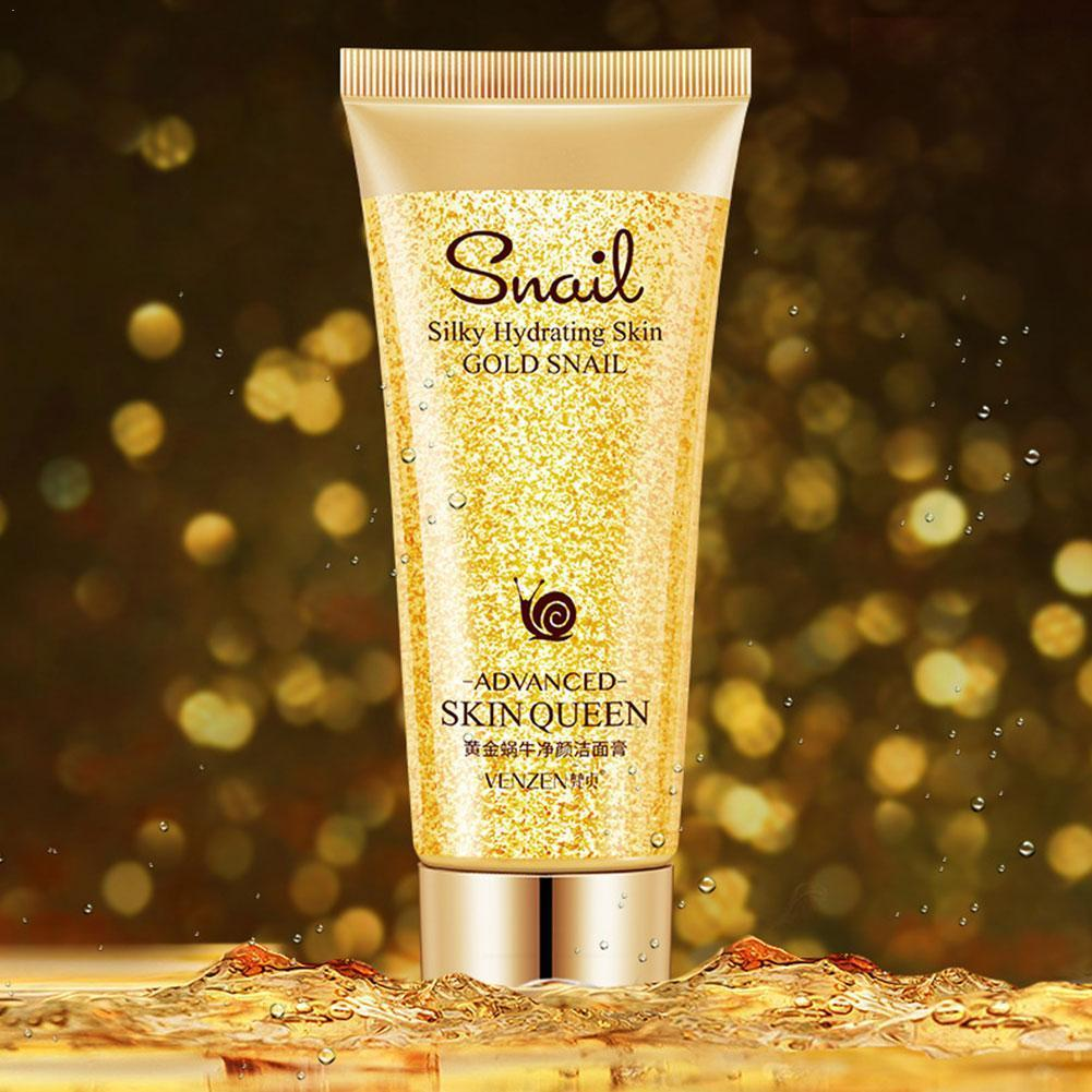 Gold Snail Cleanser Oil-control Blackhead Remover Moisturizing Face Cleansing Pores Washing Deep Skin For Sensitive A8O2 image