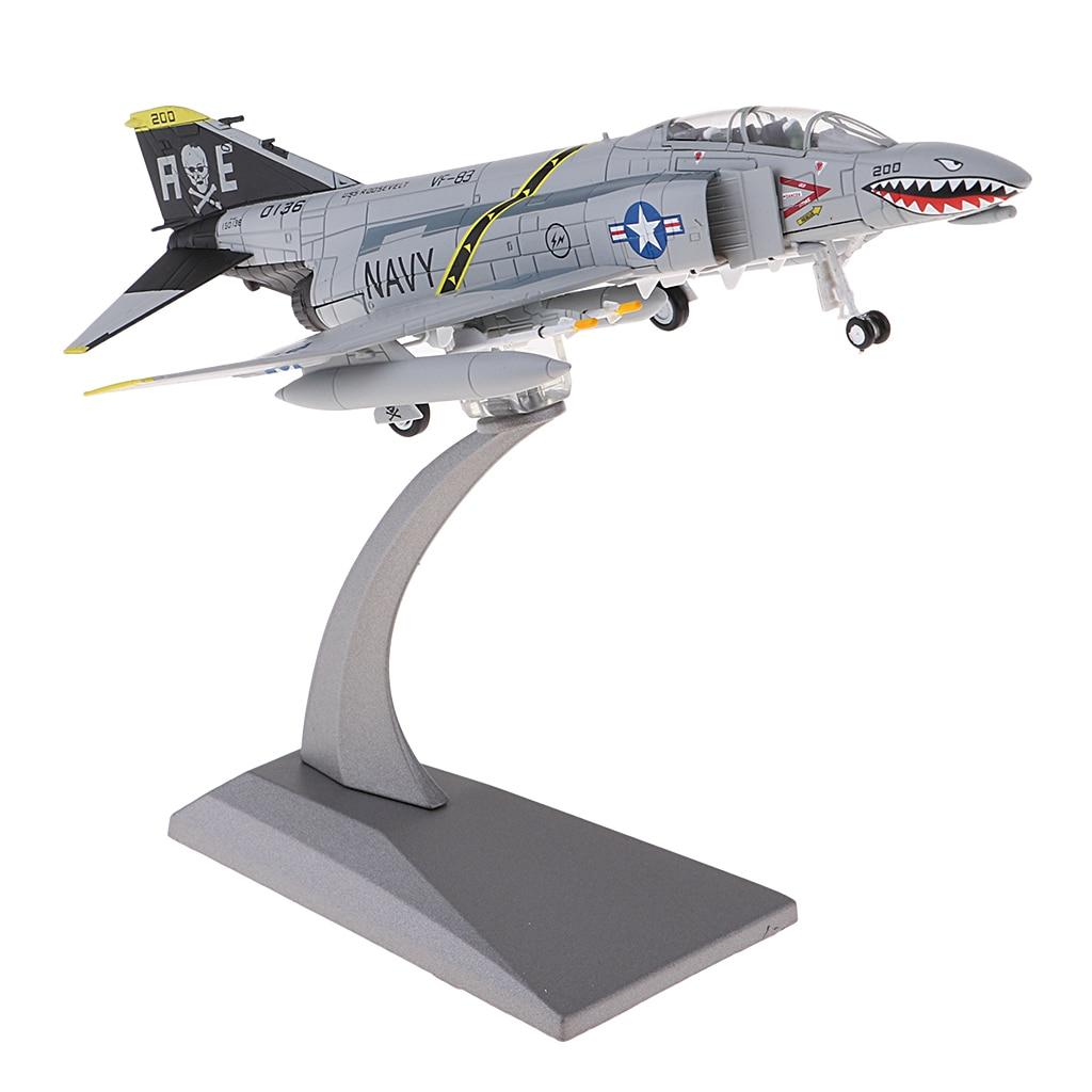 1/100 литой Американский F-4 истребитель игрушки самолет W/металлический Дисплей стенд