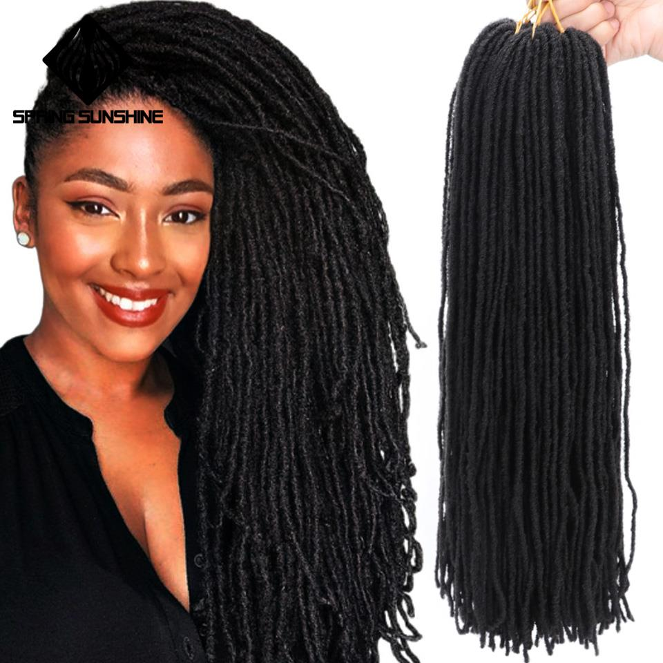Spring Sunshine Sister Locks Afro Crochet Braids Ombre Soft Dreadlock 18Inch Synthetic Hair For Women Locs Crochet Hair