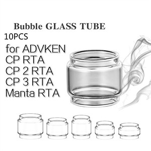 10PCS FATUBE bubble glass tube for ADVKEN Manta RTA/CP 2 rta/cp3 RTA/BERSERKER MTL RTA tank