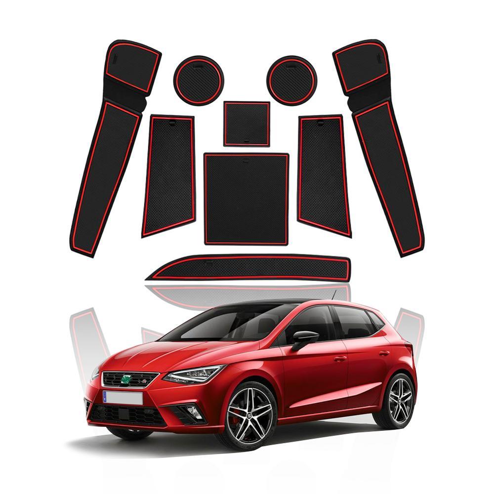 LFOTPP Door Groove Mat For Ibiza Typ 6F/Arona SUV 2018 2019 2020 Car Anti-slip Door Gate Slot Pads Auto Interior Accessories
