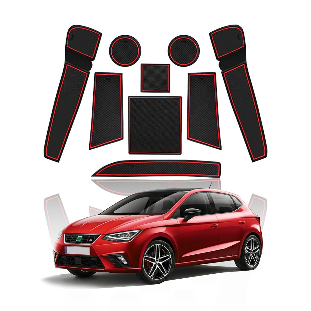 LFOTPP Door Groove Mat For SEAT Ibiza Typ 6F/SEAT Arona SUV 2019 Car Anti-slip Mat Rubber Gate Slot Pad Interior Accessories