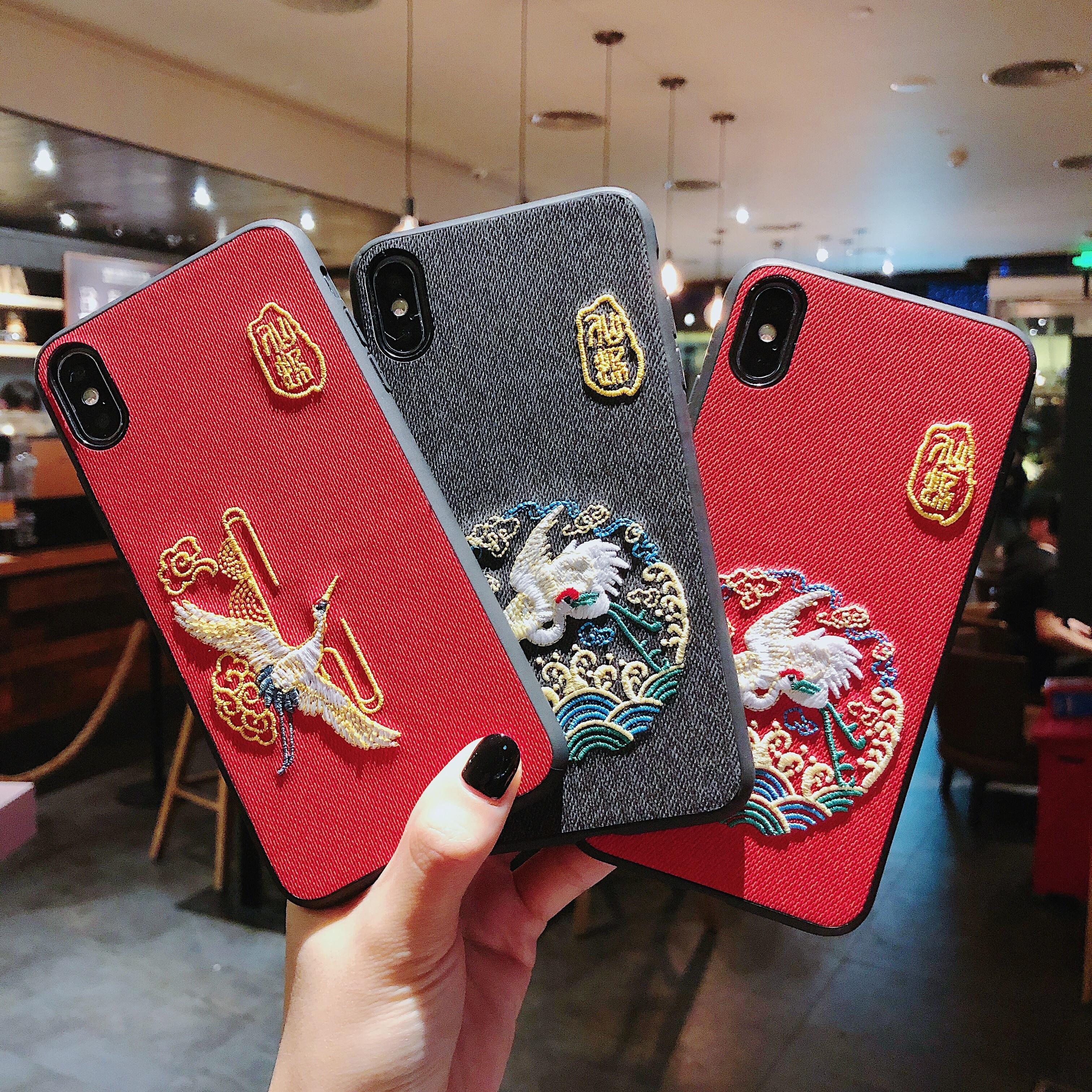 Cases Embroidery Huawei P20 P20LITE Mate20 5PRO Nova 3 Luxury Animal for P30 3i/3e/4-4e/..