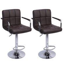 2 шт регулируемые барные стулья 60 80 см 6 круглые с подлокотником