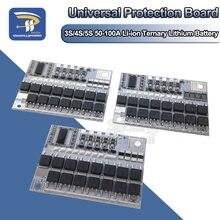 3s/4S/5S bms 12v 16.8v 21v 100a li-ion ternary bateria de lítio proteção placa de circuito 18650 li-polímero balance módulo de carregamento