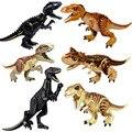 Мир Юрского периода 2 динозавра фигурки тираннозавр рекс индоминус Рекс и Рекс индораптор Строительные блоки Детская Игрушка совместима