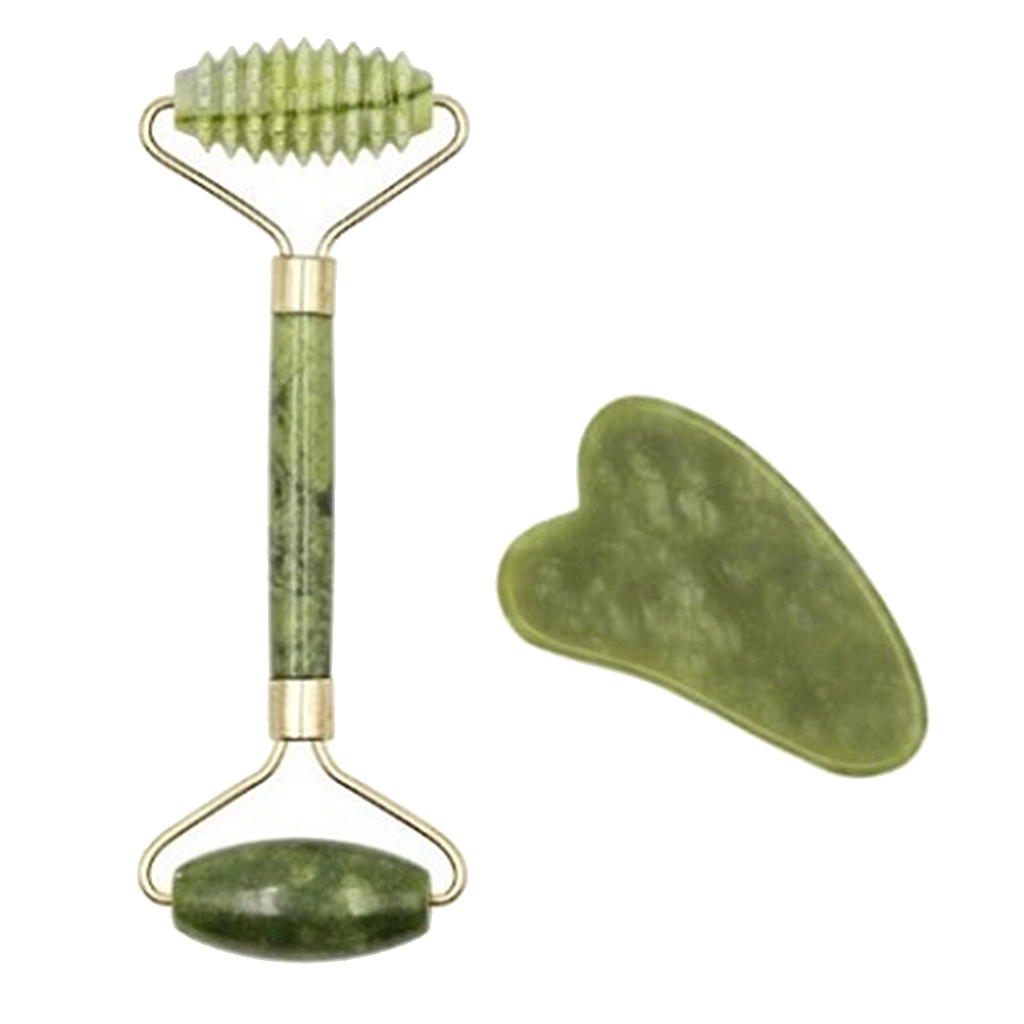 Facial Massage Roller Plate Double/Single Heads Jade Stone Massager Eye Face Neck Thin Lift Relax Massager Slimming Tools