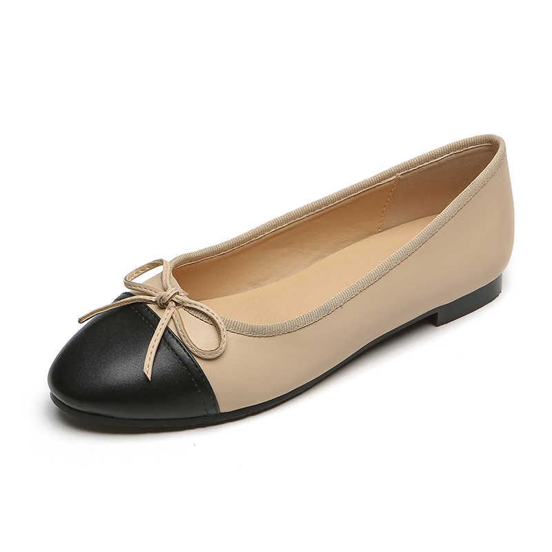 Модная Высококачественная обувь на плоской подошве с круглым носком Рабочая для