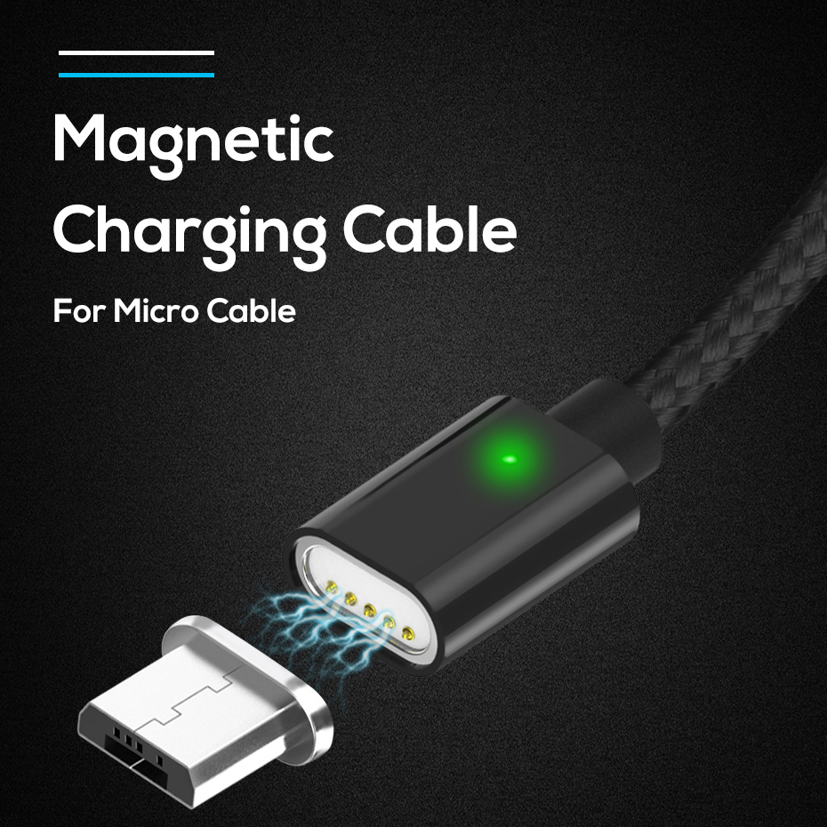 3A Magnetic <font><b>Cable</b></font> Type C Fast Charging <font><b>Cable</b></font> for Xiaomi Redmi Note 7 <font><b>Nylon</b></font> <font><b>Braided</b></font> Magnet Charger Data <font><b>Cable</b></font> for Samsung Huawei image