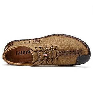 Image 2 - Zapatos informales para hombre mocasines planos de cuero, transpirables, de talla grande, gran oferta