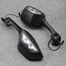 Para kawasaki ninja zx10r ZX-10R zx 10r 2011-2015 2014 motocicleta espelho led transformar sinais de luz espelhos retrovisores moto