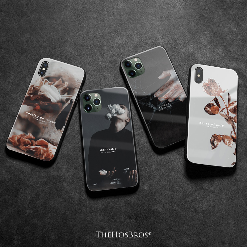 twenty one pilots aesthetic quotes soft silicone glass phone case