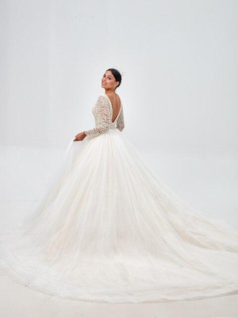 Royeememo Hochzeit Kleid 2020 Appliqued Tüll A linie Sexy Backless Strand Braut Kleid Hochzeit Kleid Kostenloser Versand