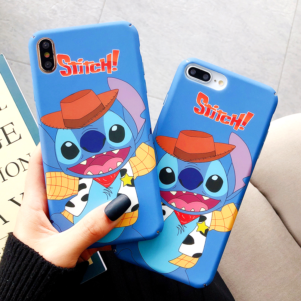 Luxury cartoon pattern For iPhone X XR 6 6s 7 8 XS MAX Plus Tide brand anti fall hard cover in Fitted Cases from Cellphones Telecommunications