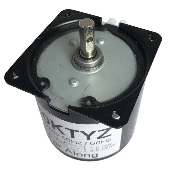Moteur synchrone | Couple élevé, 220V 14W 60KTYZ, inversé CW/CCW métal, moteur à vitesse lente, 2.5 To110RPM