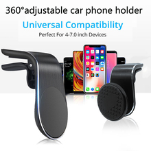 Car-Phone-Holder Clip-Mount-Stand iPhone Magnet Air-Vent In-Car BSLIUFANG for GPS