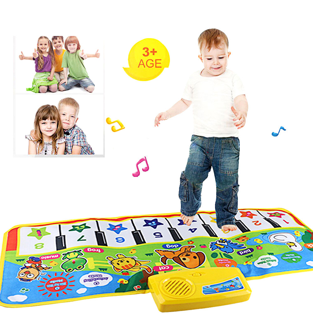 New Play Keyboard Musical Music Singing Gym Carpet Mat Best Kids Baby Gift Multifunctional Animal Music Blanket L0218